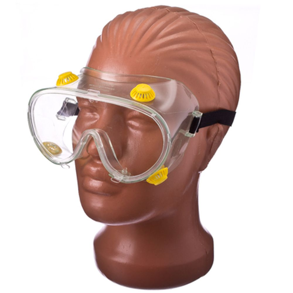 Очки закрытые слесарные с непрямой вентиляцией, поликарбонат, ПВХ