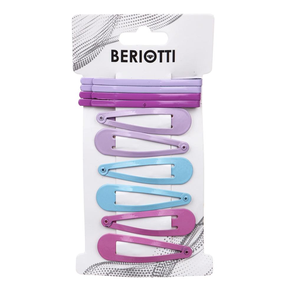 Набор заколок-невидимок для волос 12шт., металл, 5-6 см, 2 модели