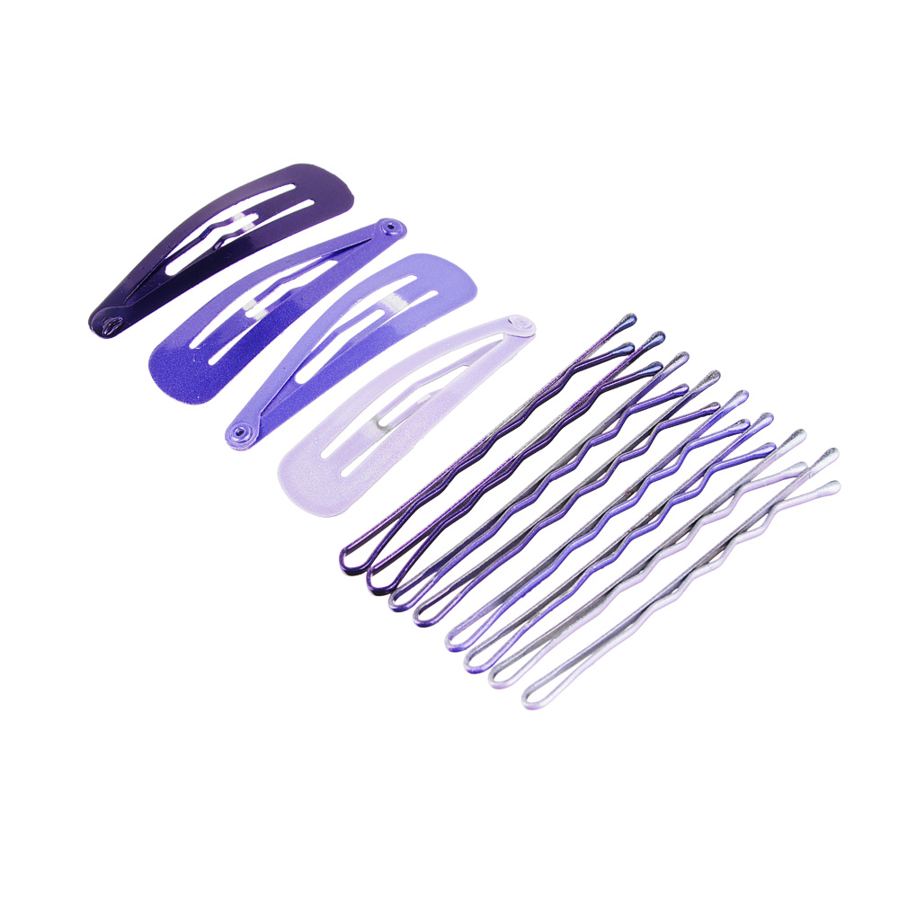 Набор заколок-невидимок для волос 12шт., металл, 4,5 см, 6 см, 6 цветов