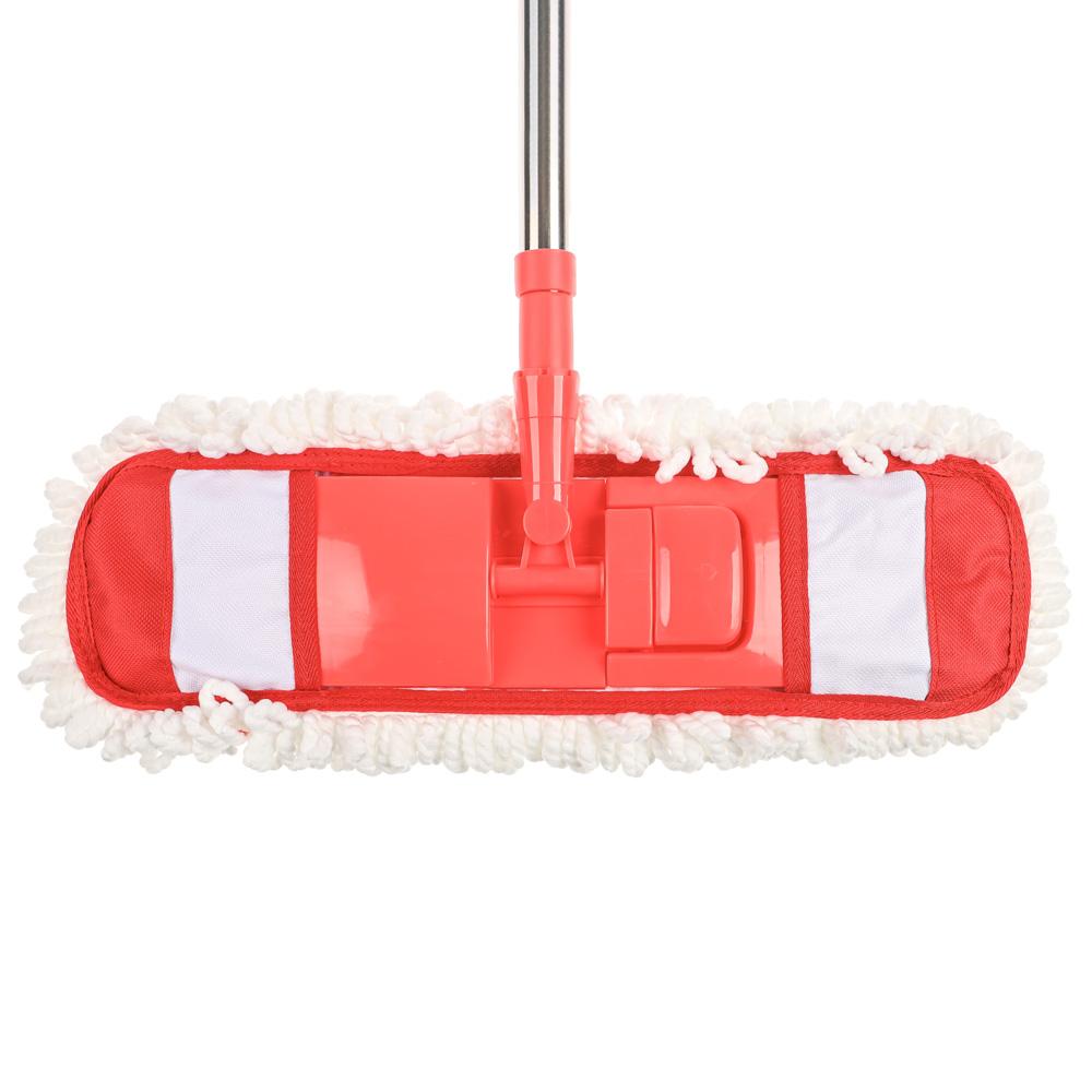 VETTA Швабра с насадкой из микрофибры, телескоп. черенок нерж.сталь 70-120см., арт. NP-1203