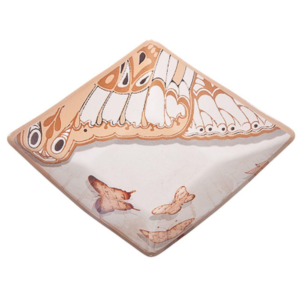 VETTA Полет бабочки Салатник квадратный стекло, 20,3см, S312008N
