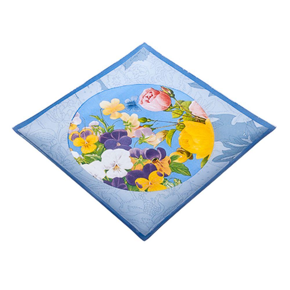 VETTA Садовые цветы Блюдо квадратное стекло, 25,4см, S3110