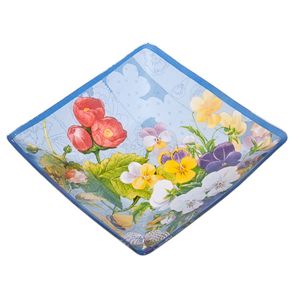 VETTA Садовые цветы Салатник квадратный стекло, 20,3см, S312008N