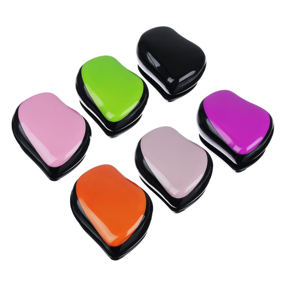 Расческа массажная профессиональная, пластик ABS, 9х7 см, 6 цветов