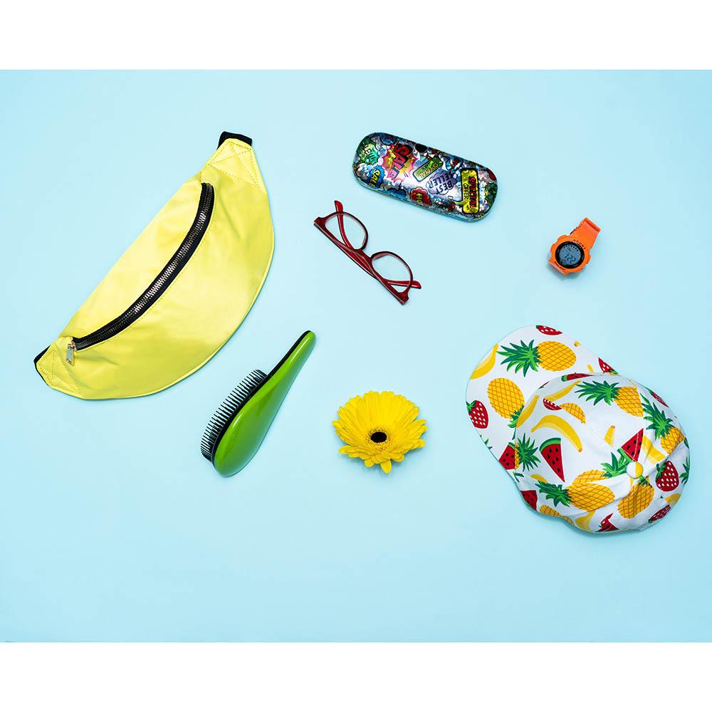 Расческа массажная с ручкой, профессиональная, пластик ABS, 7х18 см, 4 цвета