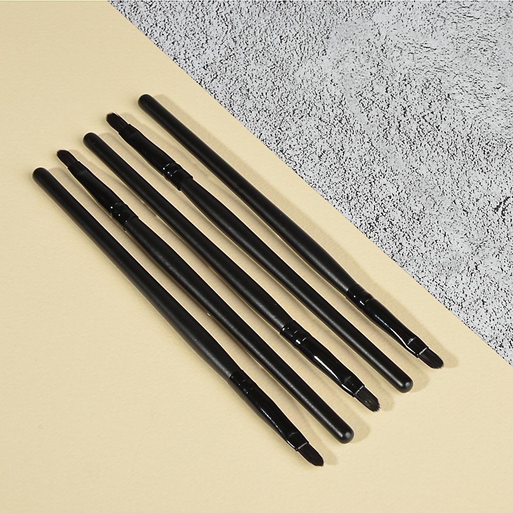 Кисть для макияжа губ, дерево, синтетич.нейлон, 15см, черный, 26905-17