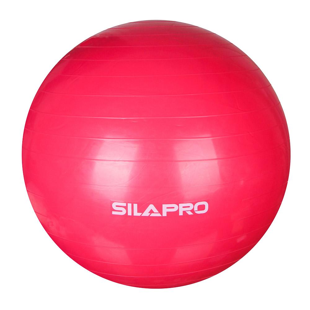 Мяч для фитнеса гимнастический, ПВХ, d75 см, 900 гр, 6 цветов, в коробке, SILAPRO