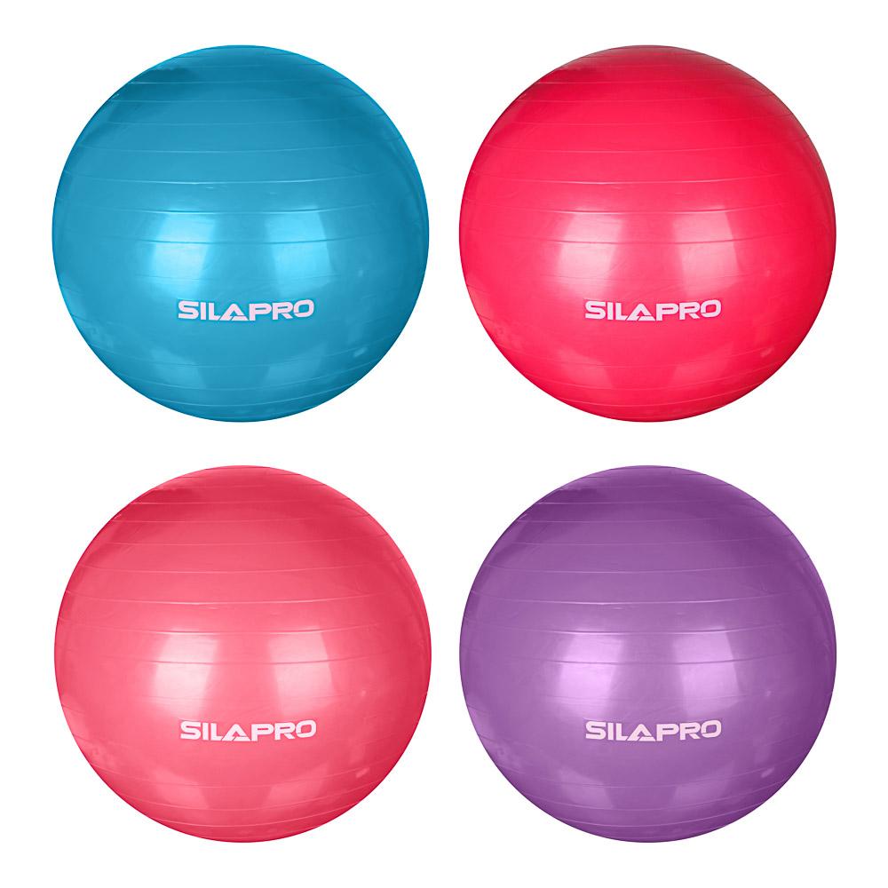 Мяч для фитнеса гимнастический, ПВХ, d85 см, 1000 гр, 6 цветов, в коробке, SILAPRO