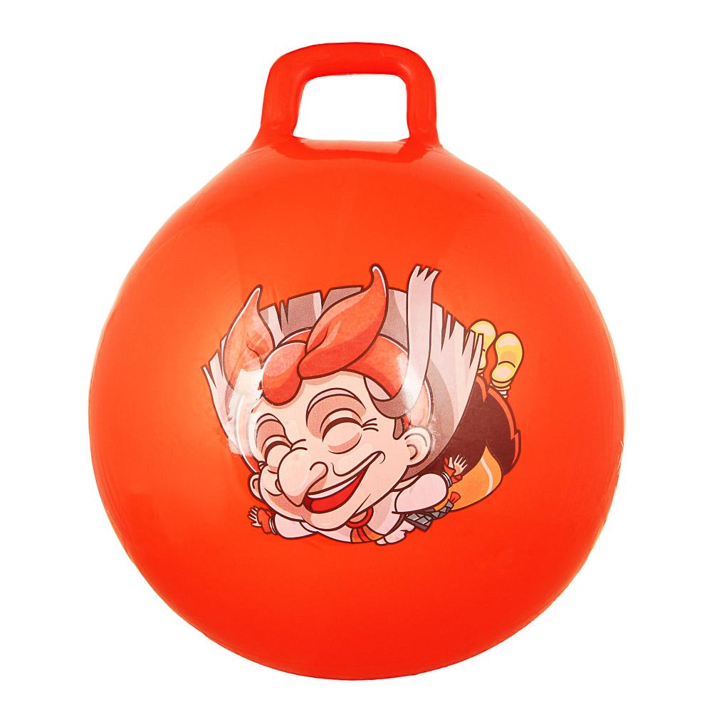 Мяч-попрыгун с ручками, ПВХ, 50 см, 400 гр, 6 цветов, SILAPRO