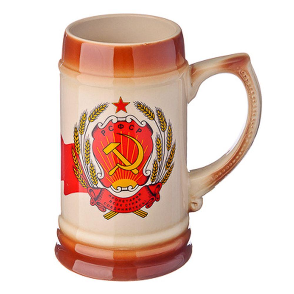 """Кружка пивная 0,75л, керамика, """"Пролетарии соединяйтесь"""""""