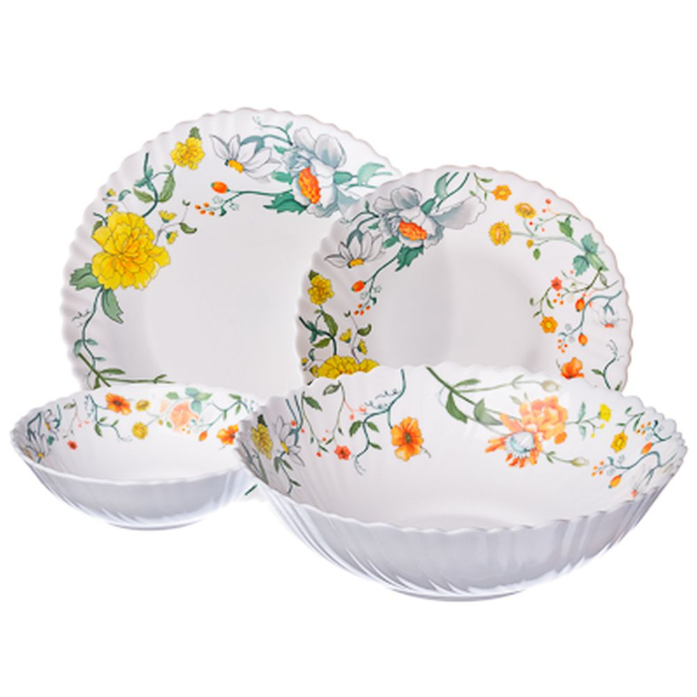 VETTA Селена Набор столовой посуды 19 пр. опаловое стекло тонкое, NH19C