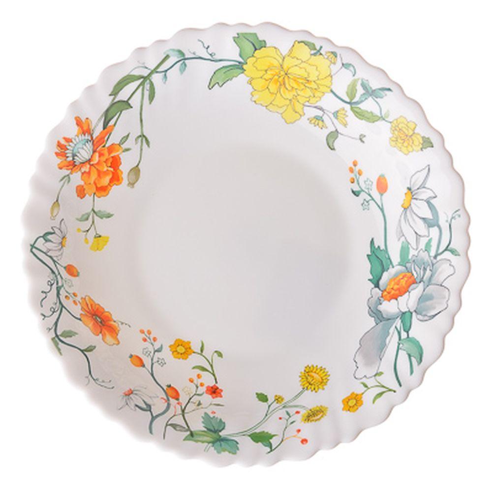 VETTA Селена Тарелка суповая опаловое стекло тонкое, 21,5см, NHSP85C