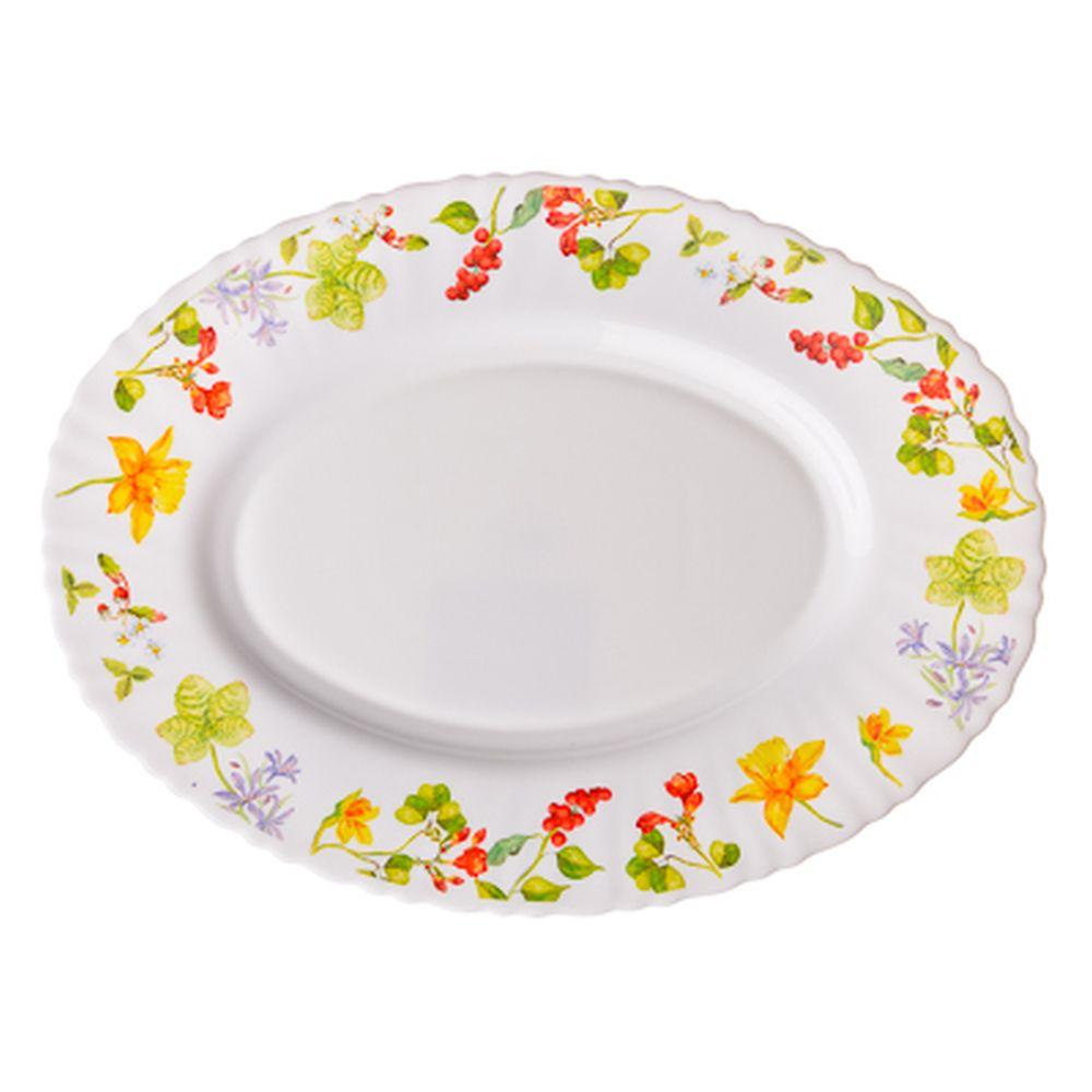 VETTA Протей Блюдо овальное опаловое стекло тонкое, 30см, NHYP120