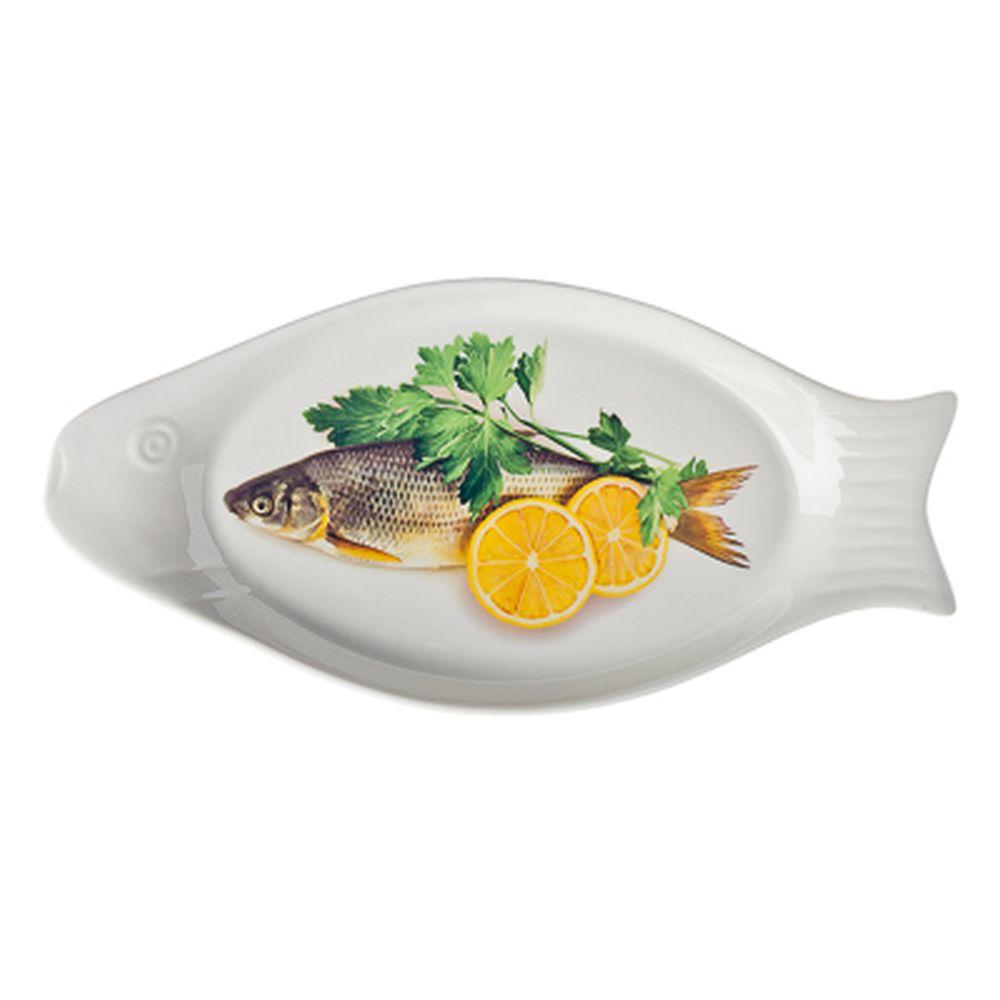 Блюдо для рыбы, фрф, 31,5x15x2,5см, подар.уп.