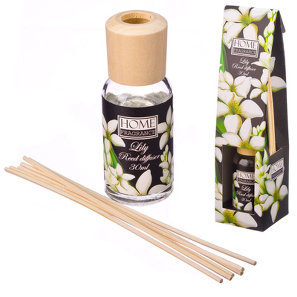 Ароманабор 30мл с 6 палочками 4 аромата (корица с лимоном, ландыш, ваниль, пион), 0023
