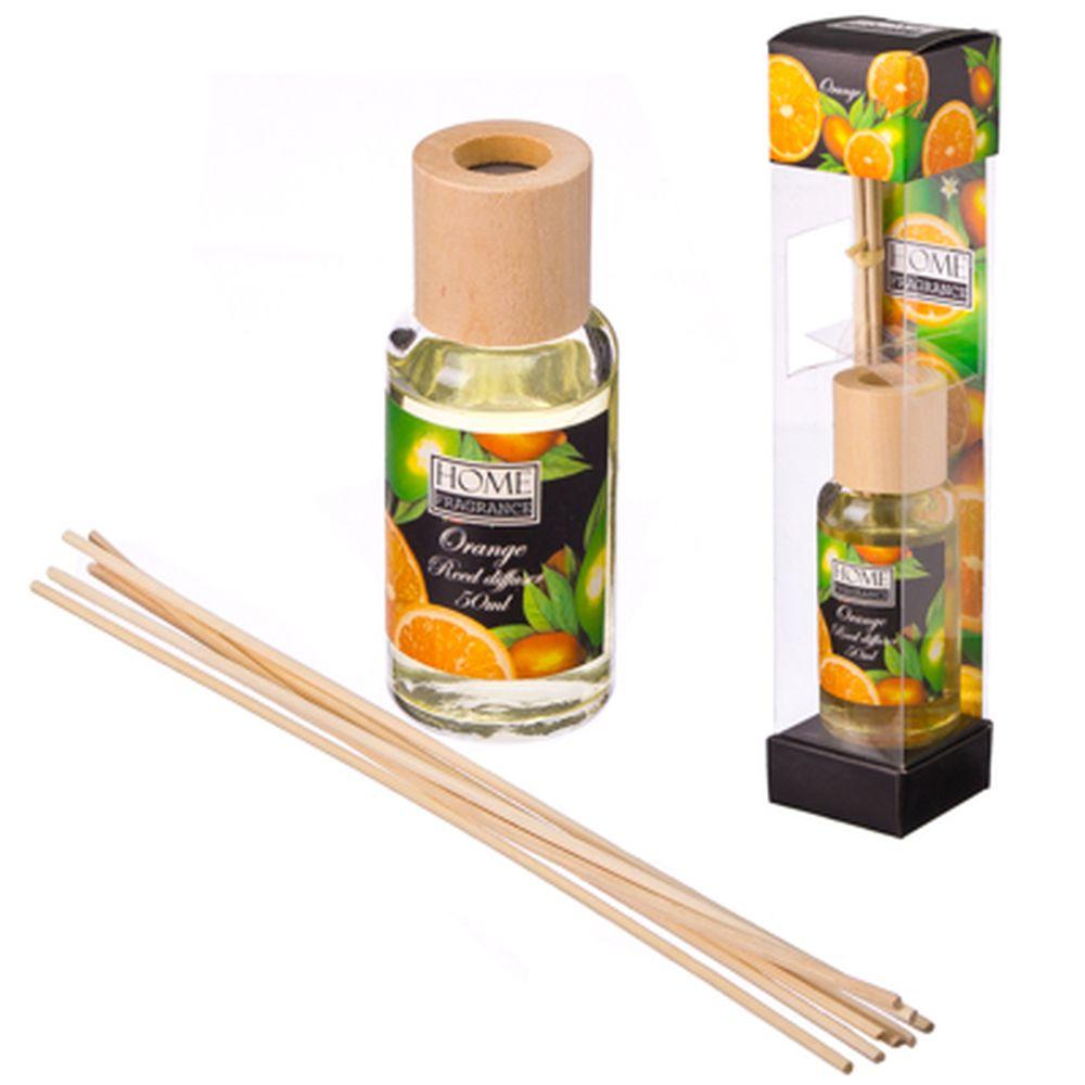 Ароманабор 50мл с 6 палочками, 4 аромата (апельсин, жасмин, лаванда, роза), 0047