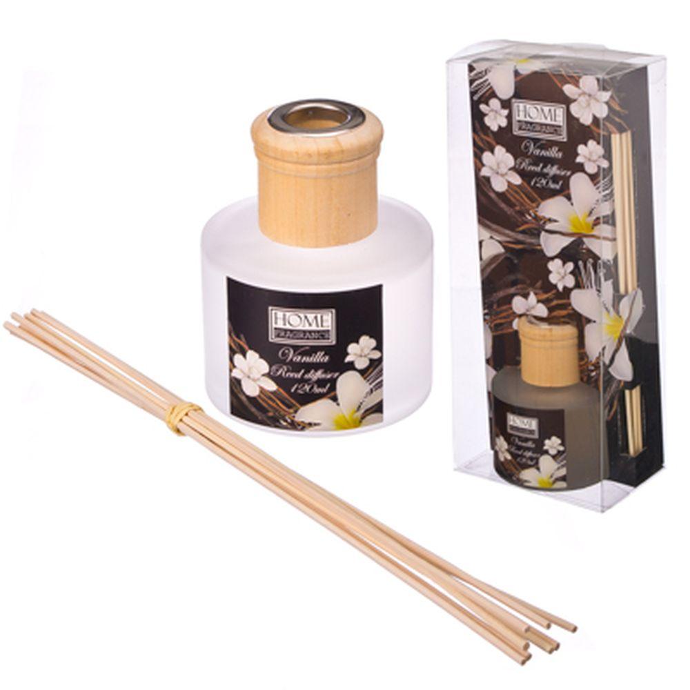 Ароманабор 120мл с 8 палочками, 4 аромата (апельсин, жасмин, лаванда, роза)