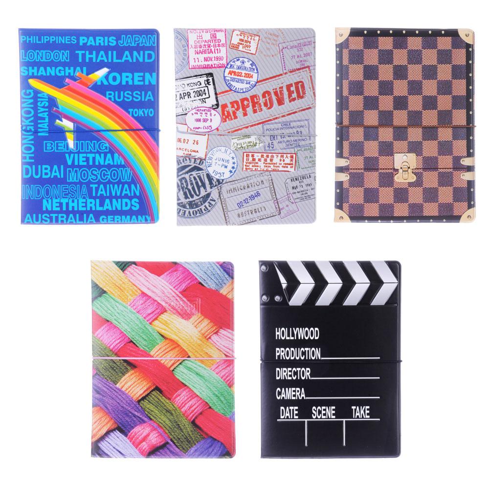 Обложка для паспорта c отделением для карт, ПВХ, 10,1x14см, 5 дизайнов, DC2014-11
