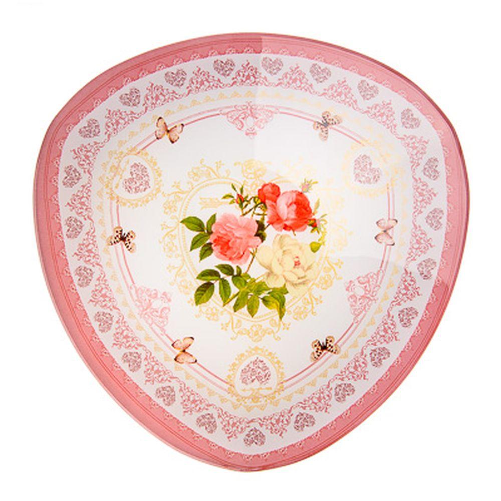 VETTA Букет роз Салатник треугольный стекло, 25,4см, S332010
