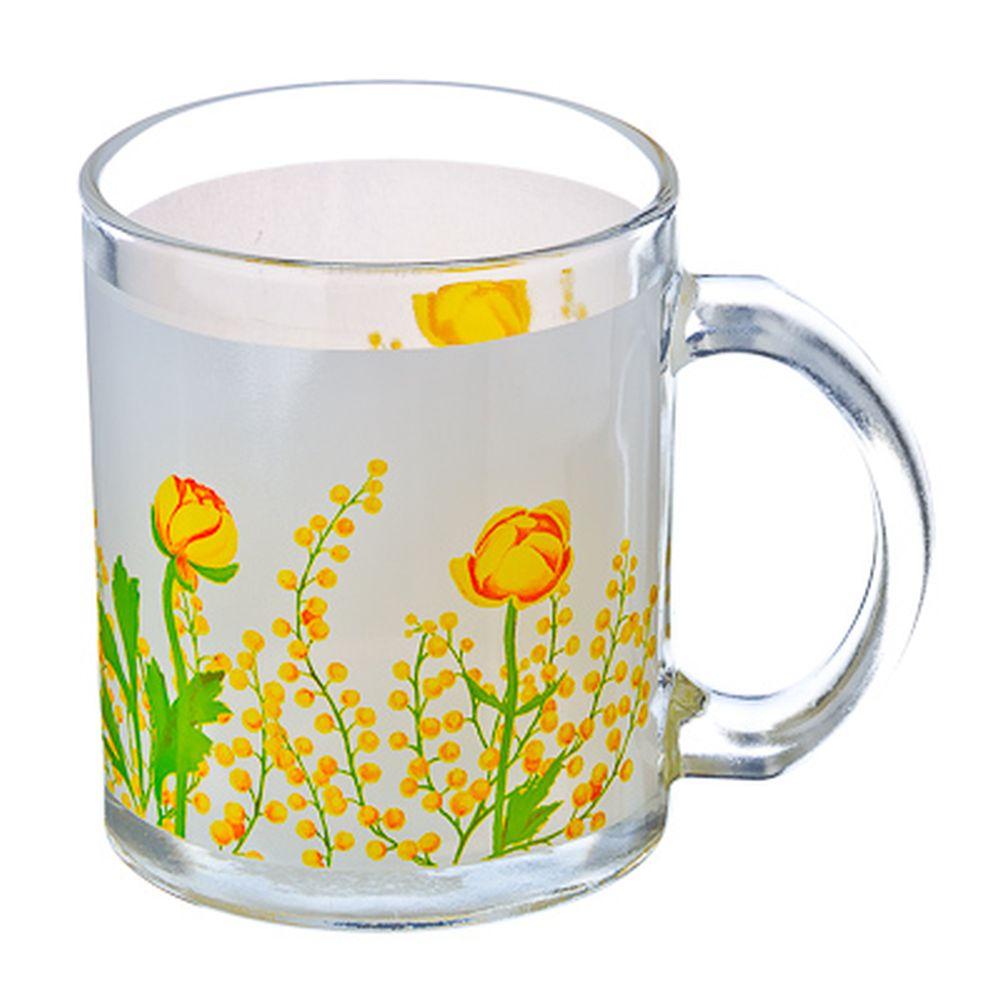 VETTA Весенние цветы Кружка стекло 270мл, S2348