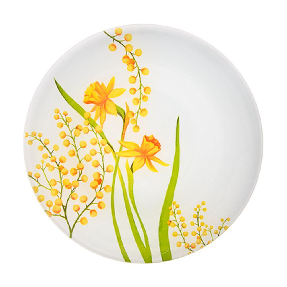 VETTA Весенние цветы Тарелка десертная стекло 20см, S3008