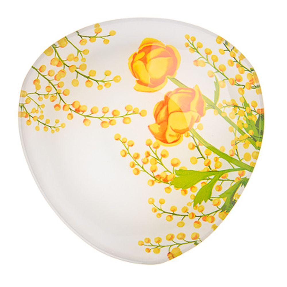 VETTA Весенние цветы Салатник треугольный стекло, 15,2см, S332006