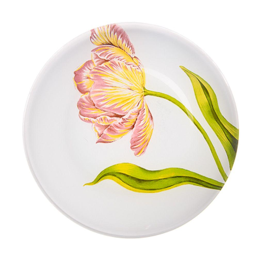 VETTA Тюльпаны Тарелка десертная стекло 20см, S3008