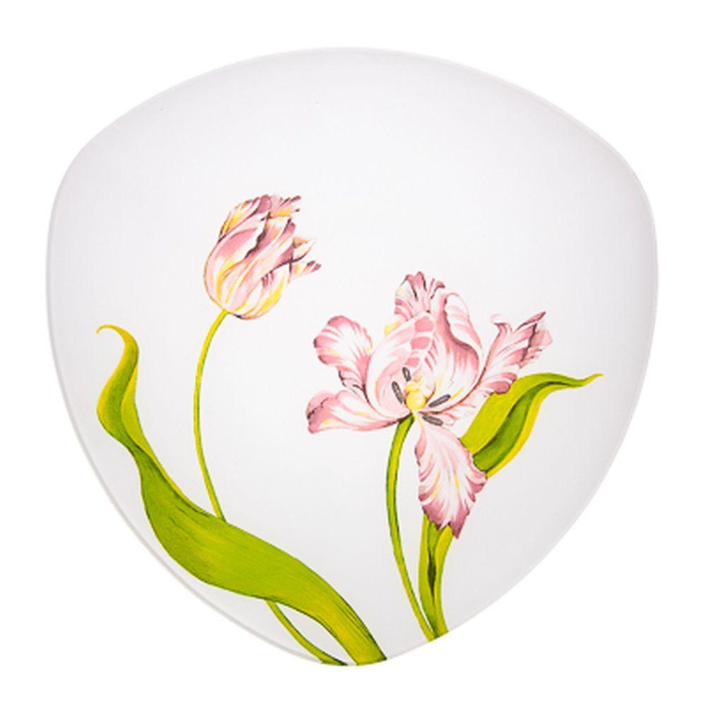 VETTA Тюльпаны Блюдо треугольное стекло, 30см, S330012