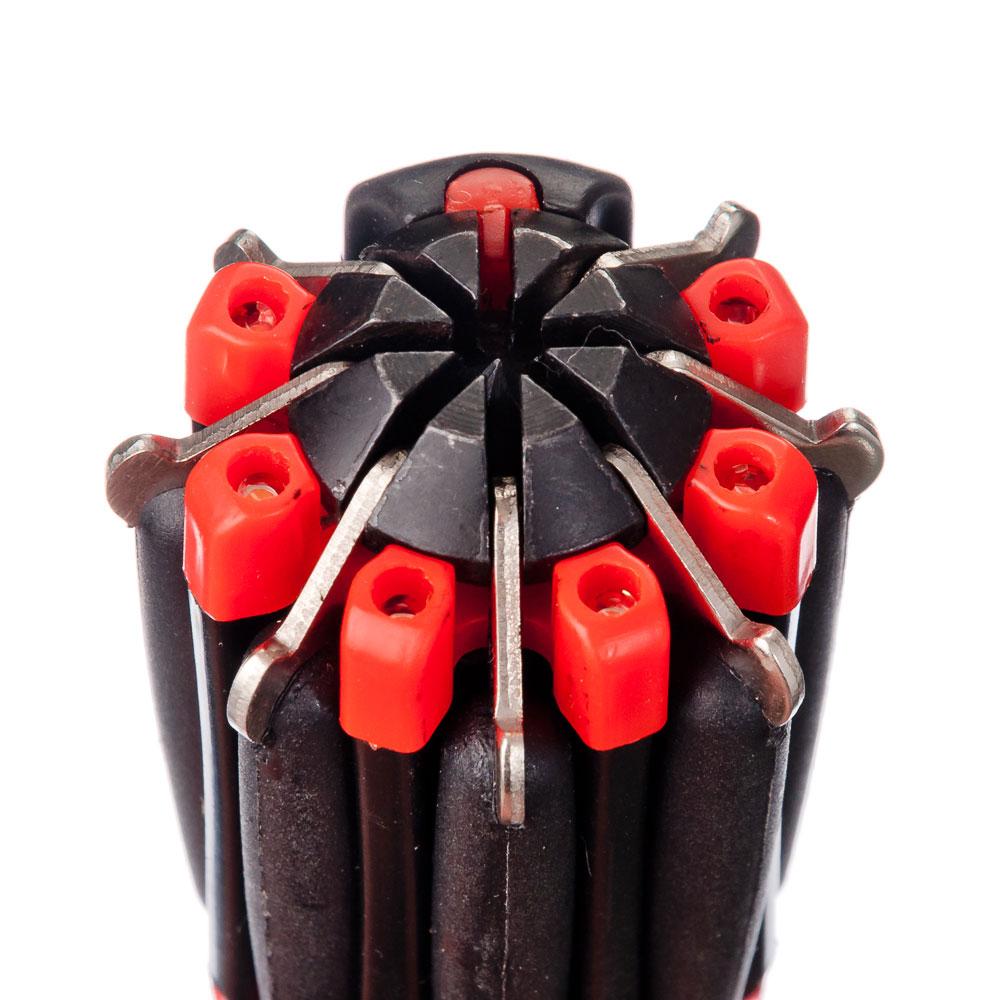 ЧИНГИСХАН Фонарь с инструментами 8-в-1 6 LED, 3xAAA, пластик и металл, 12,5х4,5 см