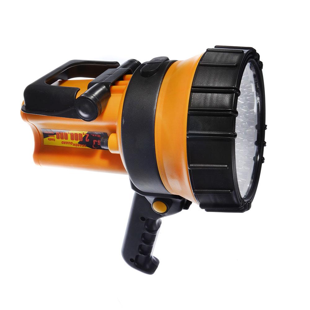 ЧИНГИСХАН Фонарь прожектор аккумуляторный 37 ярк. LED, адаптеры 220 и 12В, пластик, 23x15 см