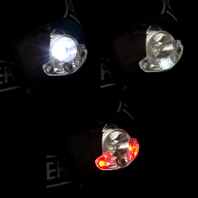 Фонарь налобный 3+1 LED, 4 режима, пластик, 5,54х3см, пит.3хААА