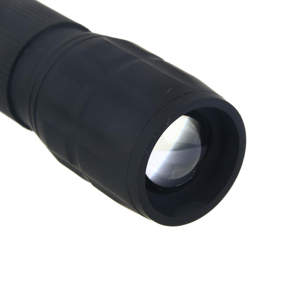 ЧИНГИСХАН Фонарь с фокусировкой 0,75 Вт LED, 3xAAA, резинопластик, 11,5х3 см