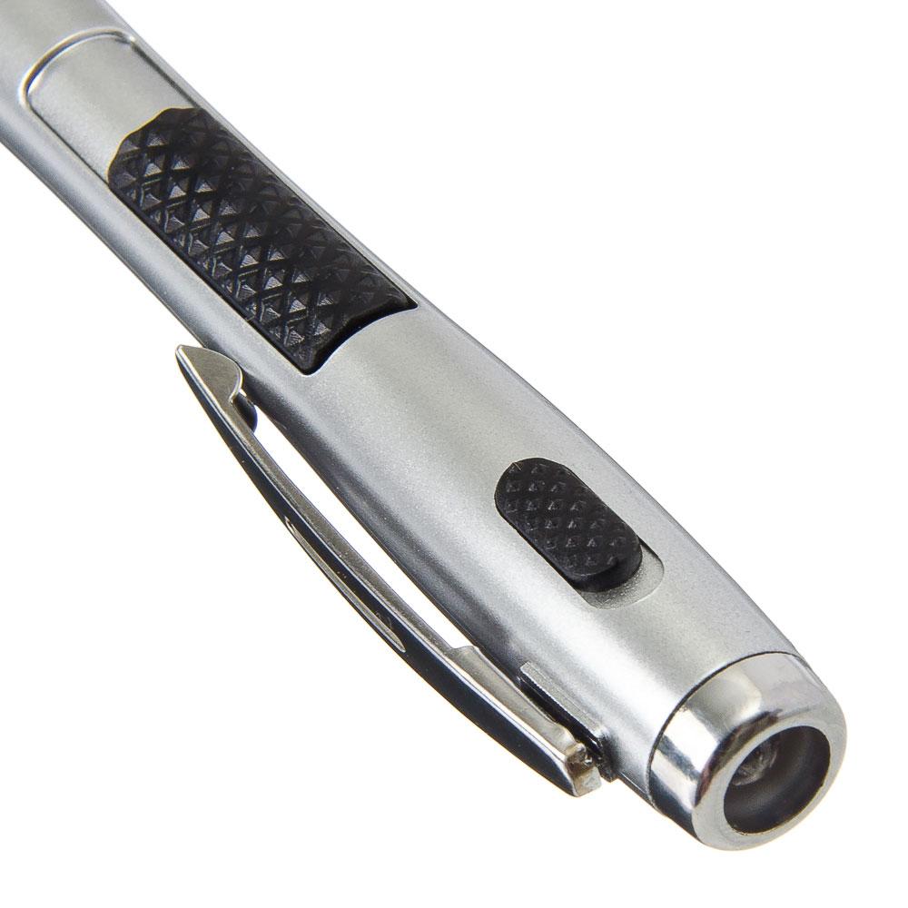 Шариковая ручка 3 в 1 (ручка шариковая, стилус, фонарик), 13,5 см