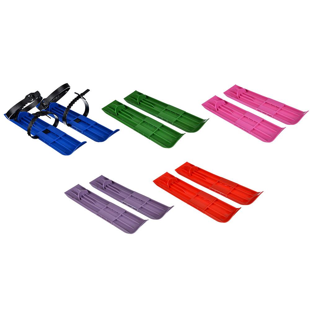 Мини-лыжи детские с пластиковыми ремешками, пластик, 7х36х1см