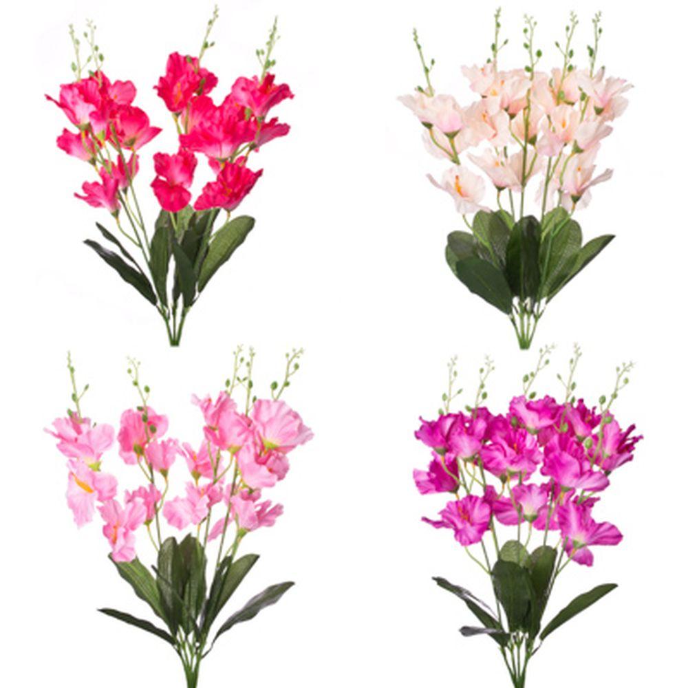 """Букет искусственный, пластик, полиэстер, 60см,""""В виде Дикой орхидеи"""", 4 цвета, арт.А001-14"""
