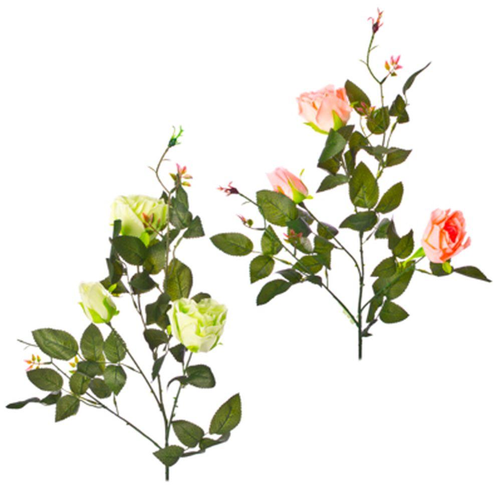 """Цветок искусственный """"В виде Розы"""" 80см, пластик, полиэстер, 2 цвета, арт.А001-10"""