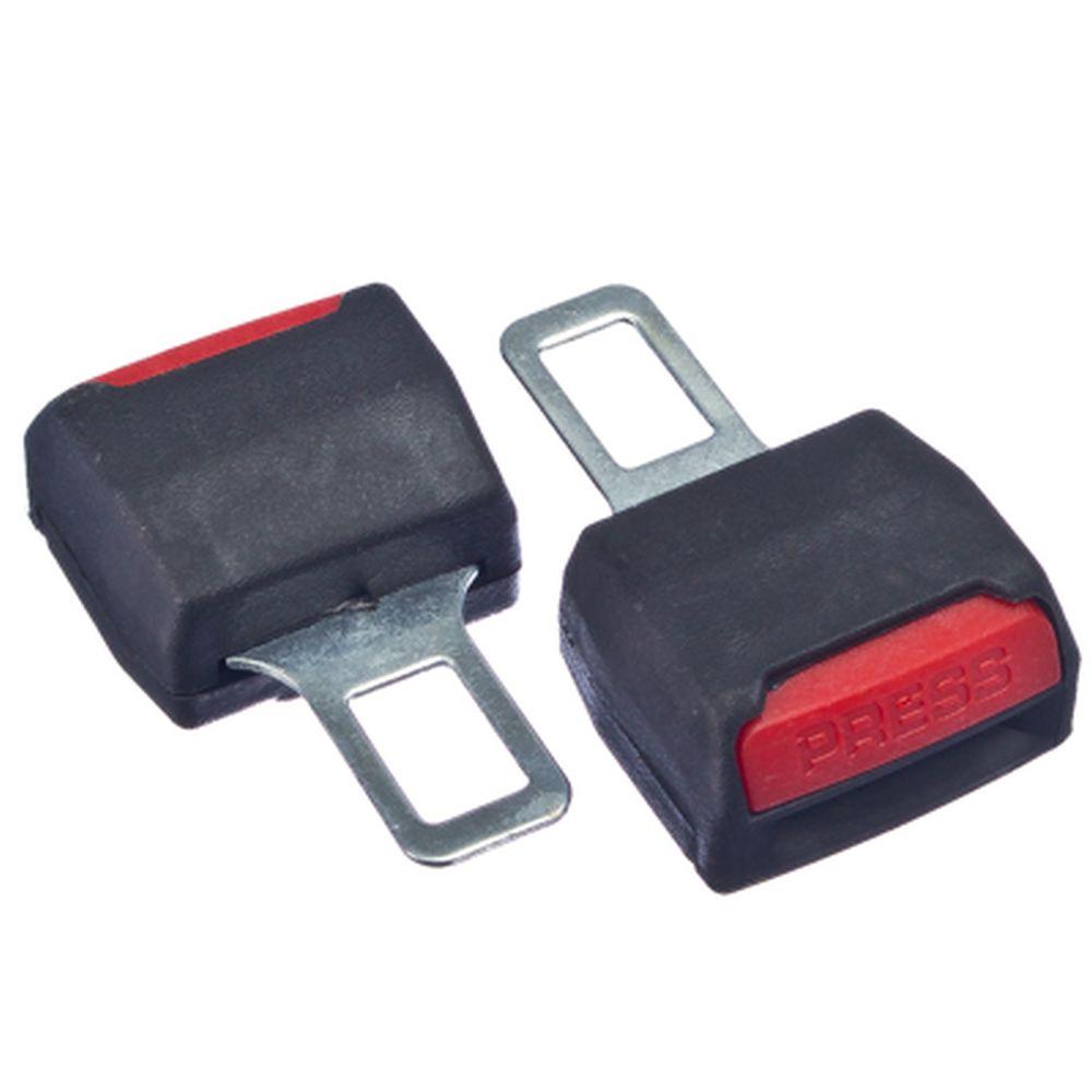 Набор заглушек для ремней безопасности 2шт, двойная, пластик, металл