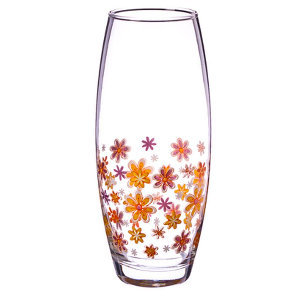 """PASABAHCE Ваза """"WorkShop"""" 26см, оранжевые цветы, 43966B3"""