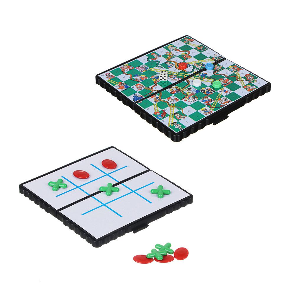 Игра в виде Крестиков-ноликов магнитные дорожные 13х13см, пластик, металл