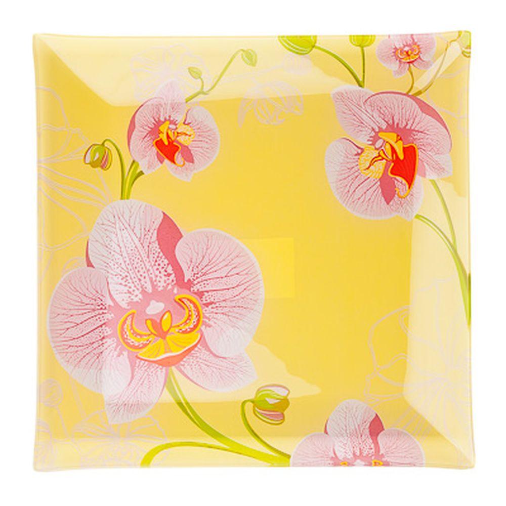 VETTA Орхидея Блюдо квадратное стекло, 25,4см, S3110 H211