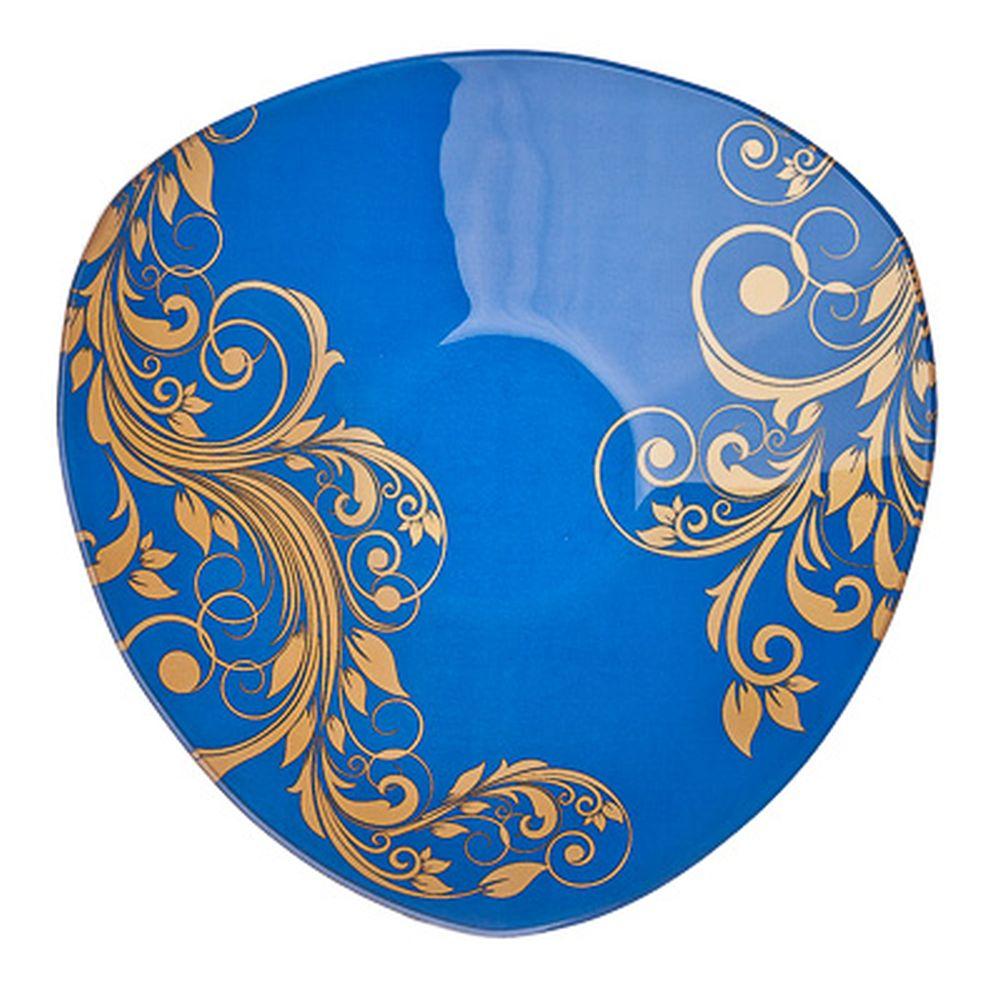VETTA Золотая вязь Салатник треугольный стекло, 25,4см, S332010 H212