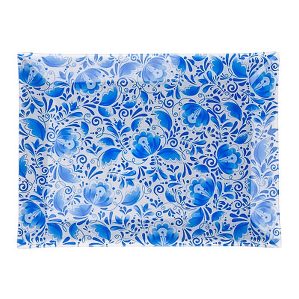 VETTA Гжель Блюдо прямоугольное стекло, 32х24см, S3232 H210