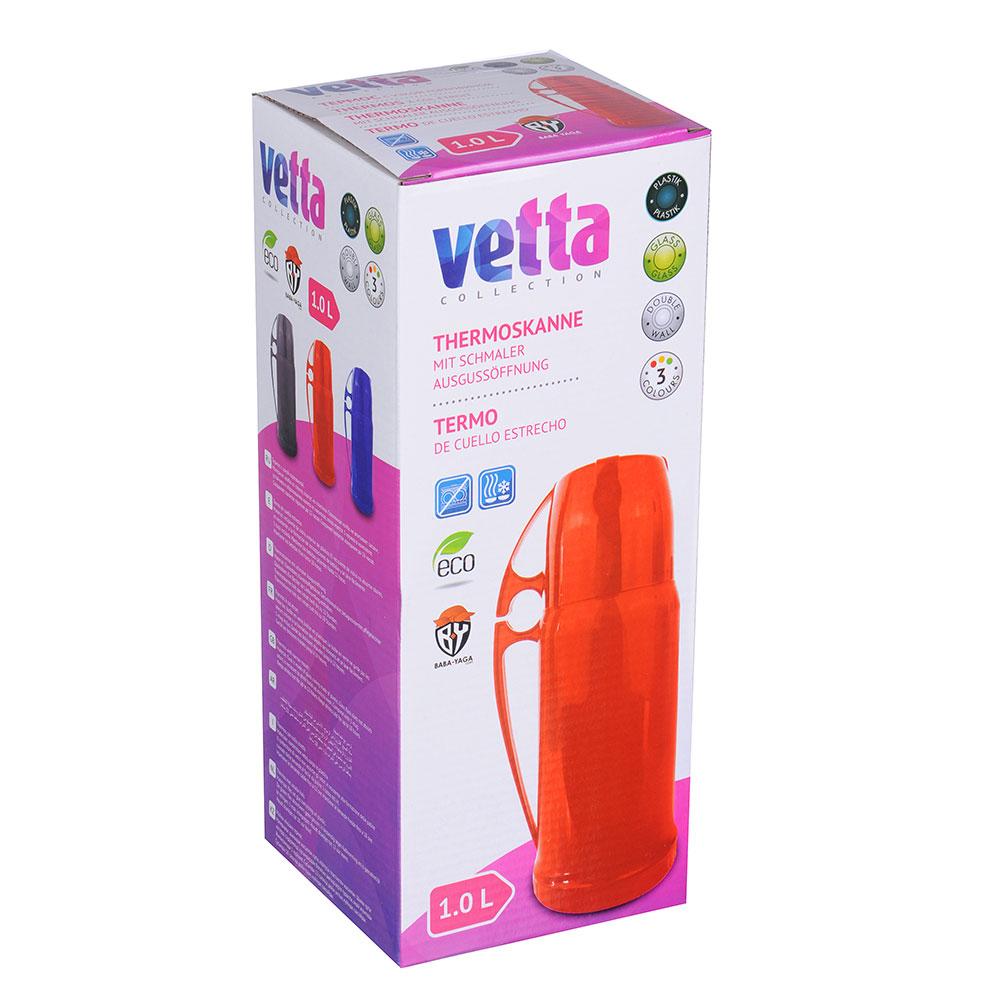 """Термос VETTA """"Туристический"""", 1 л, 3 цвета, стеклянная колба"""