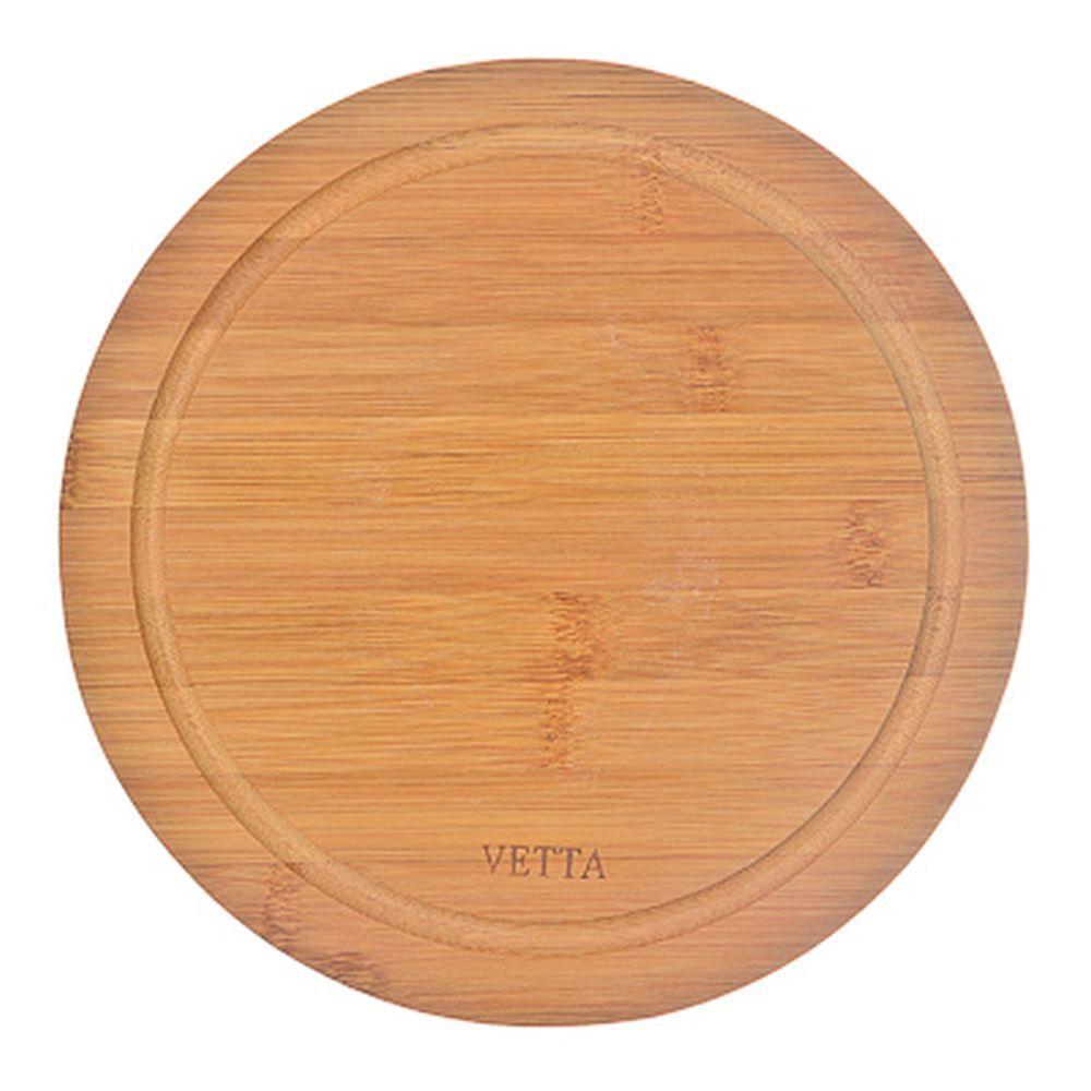 Доска разделочная деревянная VETTA Гринвуд, бамбук, d.23 см