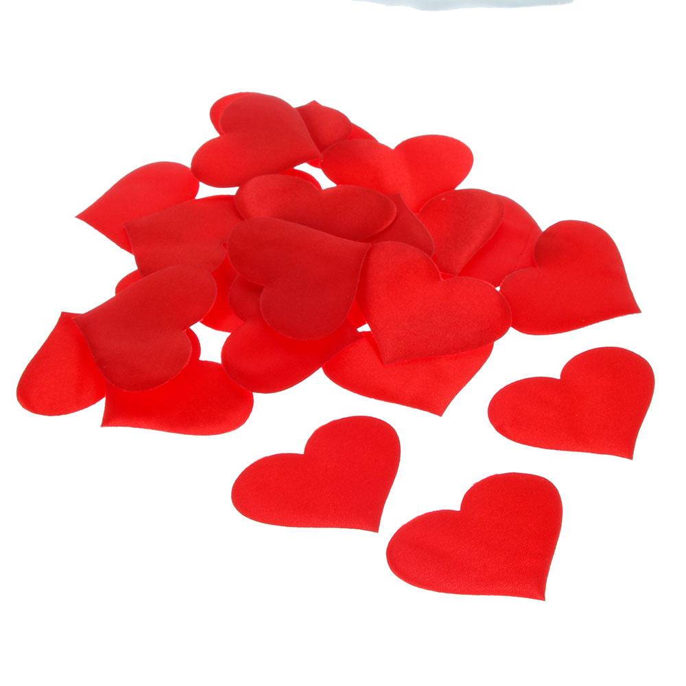 Сердечки декоративные, полиэстер, 25 шт, арт.0101