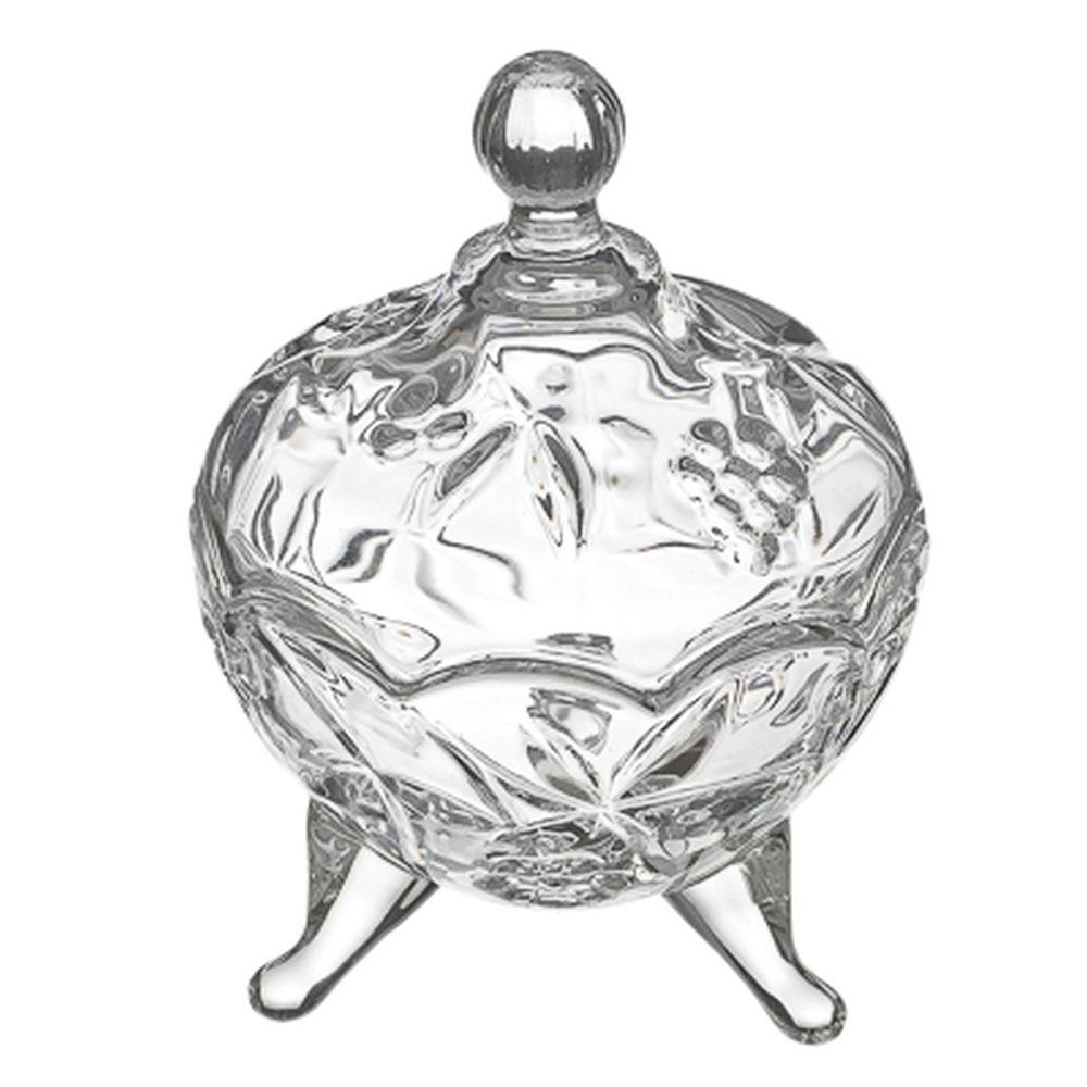 Хрустальная мечта Конфетница на ножках с куполом, 13х9,5см, стекло