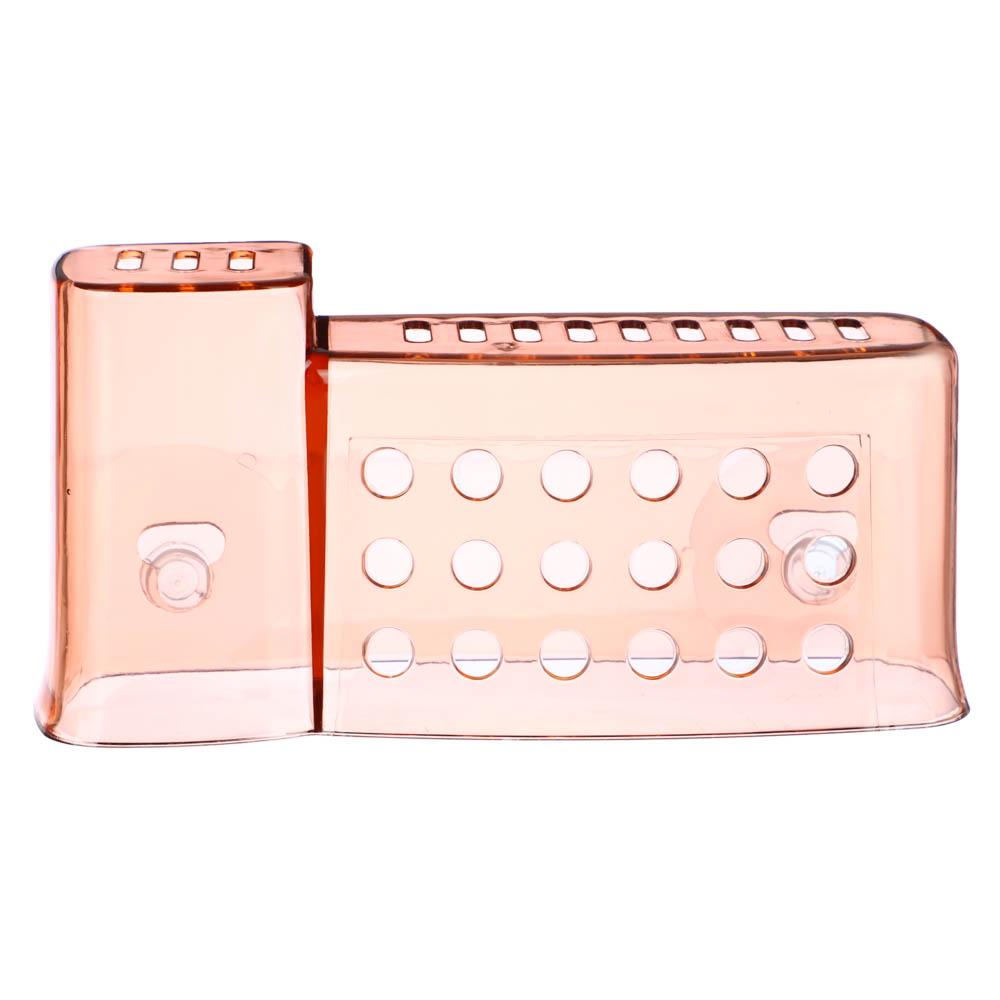 VETTA Держатель для банных принадлежностей на присосках, ПС, 16,5x5x8см, 3 цвета