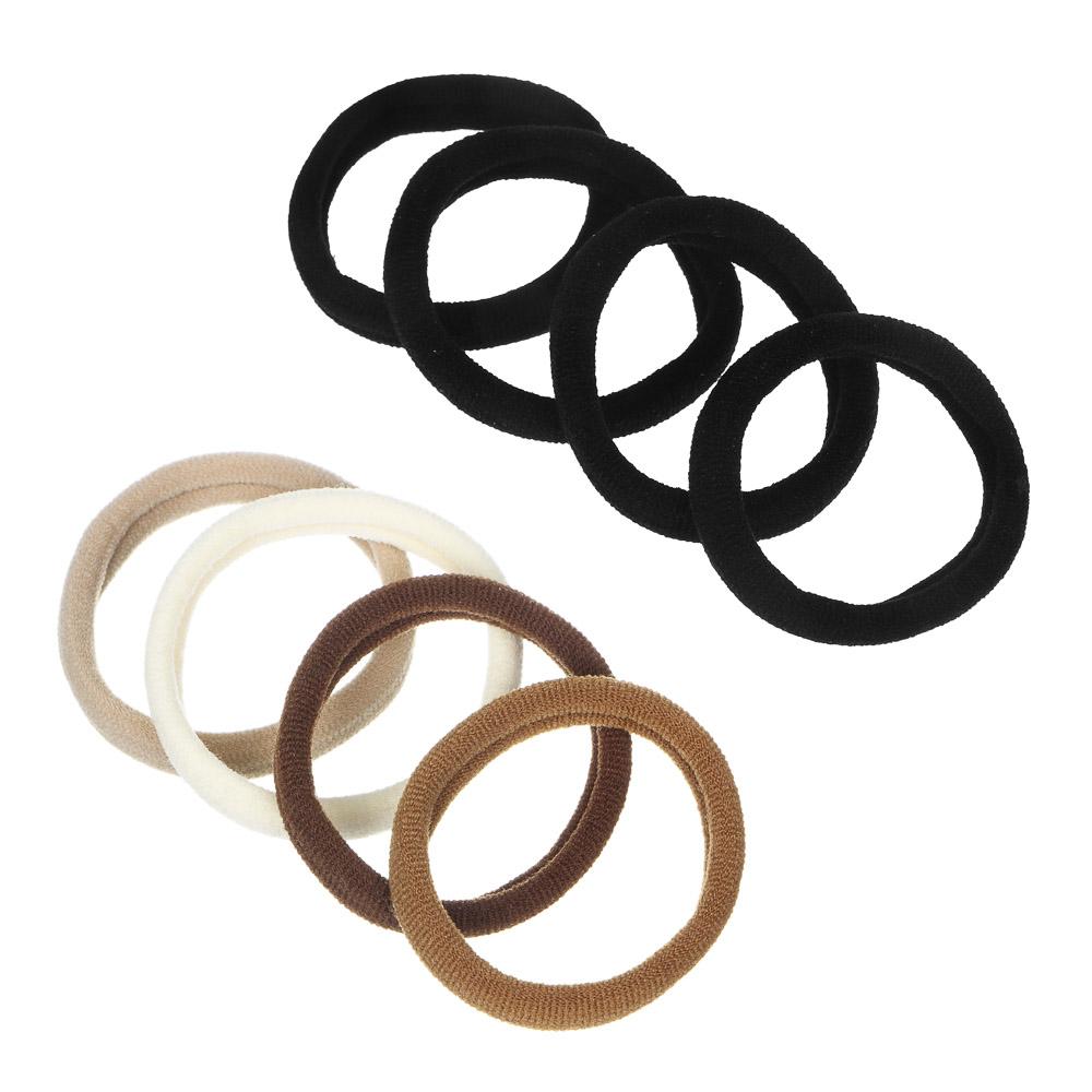 Набор резинок для волос 4шт., полиэстер, 5 см, черные