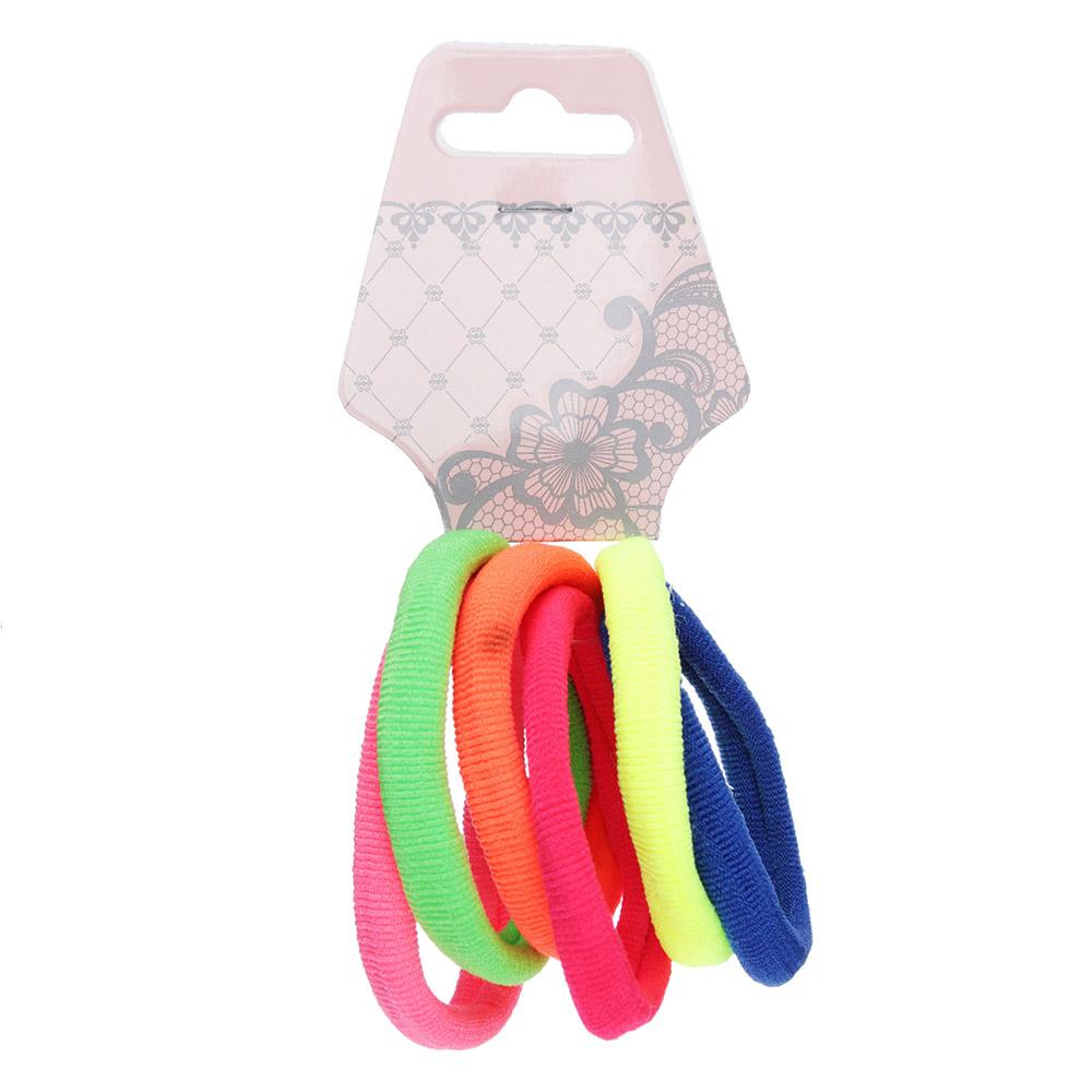 Резинки для волос BERIOTTI, 6 шт, разноцветные, d.4 см