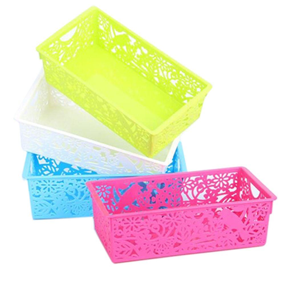 Корзина для хранения мелочей, пластик, 27,6х14,8х8,3 см, 4 цвета